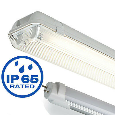Led Weatherproof Slim Single Twin Non Corrosive Waterproof Fluorescent Lights T8