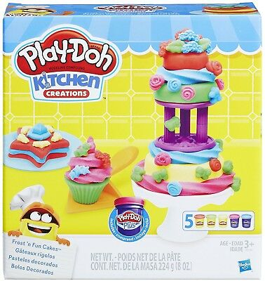 Play Doh - Kitchen Creations - Frost 'n Fun Cakes Inc Cake Tools And 5 Tubs