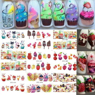 DIY Fashion Nail Art Transfer Stickers 3D Manicure Tips Decal  Decorations Tool