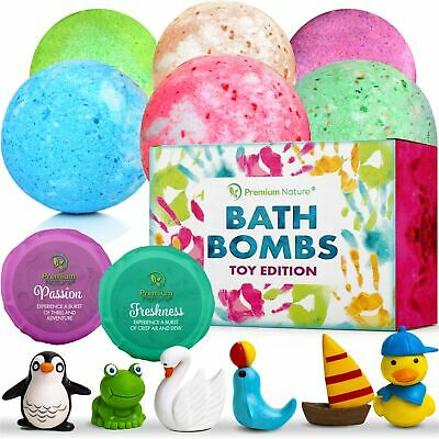 Bath Bombs Kids Gift Set 6pc Bubble Bath Natural Aromatherapy Surprise Inside