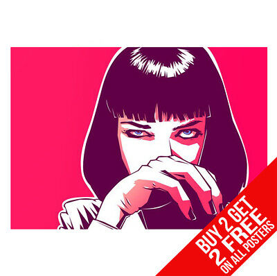 Pulp Fiction Poster Cc5 Print A4 A3 Size - Buy 2 Get Any 2 Free