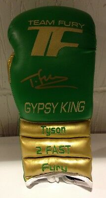 Tyson Fury Hand Signed Boxing Glove RARE GYPSY KING DESIGN COA
