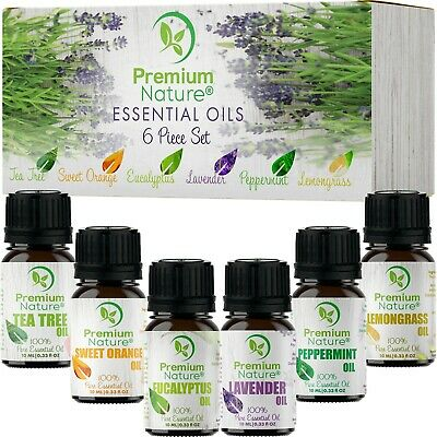 Aromatherapy Essential Oils Gift Set Pure Organic Essential Oil for Diffusers