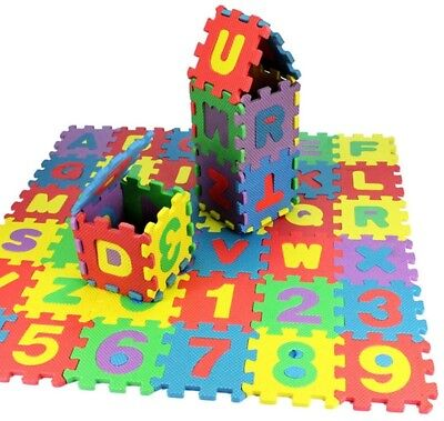 ANCHEER Baby Kids Alphabet Letters And Numbers Foam Floor Puzzle Play Mats 36