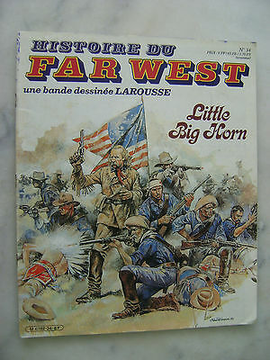 SERPIERI - Histoire du Far West en BD n° 34 - Little Big Horn - Larousse