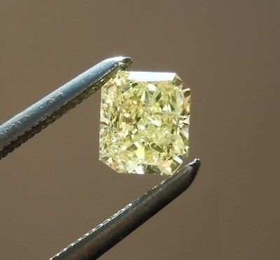 Lovely 9.5 X 8.5 MM 3.4 CT Yellow Radiant Shape Cut Loose Moissanite 4 Ring