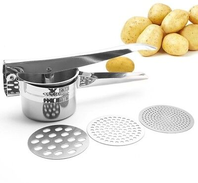 Amiciyah Stainless Steel Potato Ricer Fruit Press For Puree Baby Food Strainer