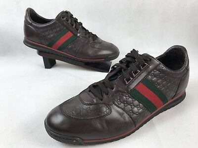 06f90546fdae4 GUCCI SL 73 Brown Leather Sneakers Size 9.5G / 10.5 US $490 ...