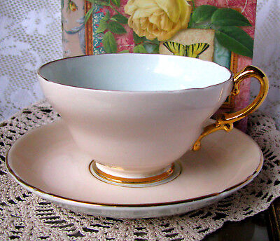 Stanley Pale Pink and Blue Teacup and Saucer, Pastel Pink & Blue English Tea Set
