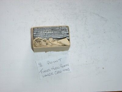 PRINTERS TYPE -8 POINT Times New Roman - lower case only - Suit ADANA or similar