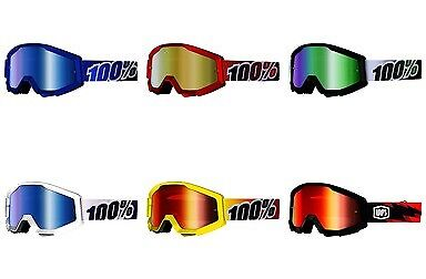 100% Brand Strata Offroad Motorcycle/Dirtbike Riding Motocross Goggles