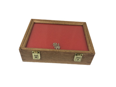 Oak Wood Display Case 9 x 12 x 3 for Arrowheads Knifes Collectibles & More