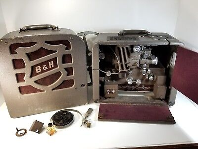 Bell and Howell Vintage Filmosound 179 Model H Projector 1930 w Film See VIDEO