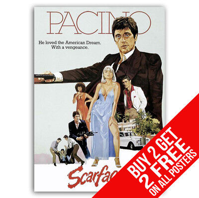 Scarface Tony Montana Poster F2 Print A4 A3 Size - Buy 2 Get Any 2 Free