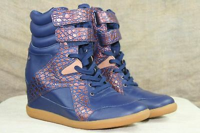 60cc9ceed8b Reebok Women s Alicia Keys Blue And Rose Gold High Top Fashion Sneakers 9.5