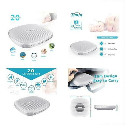 Sound Therapy White Noise Machine, Portable Sleep With Timer And 20 Soothing For