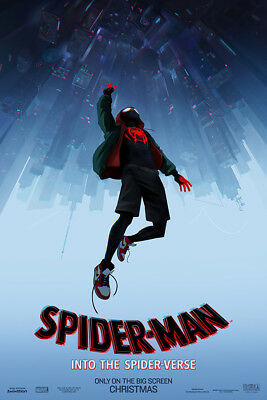 "Spider Man Into the Spider Verse Poster 48x32"" 2018 Movie Film Print Silk"