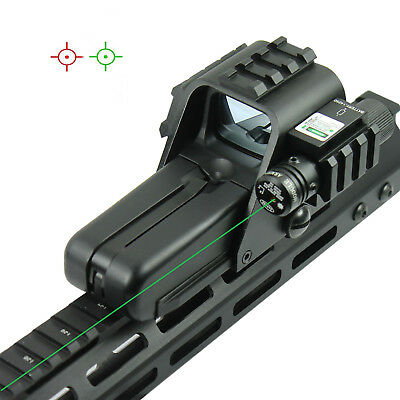 Tactical HD 552G Red Green Reticle Reflex Holosight Rifle Scope w/ Green Laser