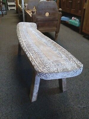 Bench Seat - Timorese Hand Carved