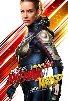 """Ant-Man and the Wasp Poster 48x32"""" 36x24 2018 Evangeline Lilly Movie Print Silk"""