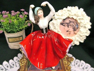 Royal Doulton Stunning hand painted figurine KAREN HN2388 dancer in red doll
