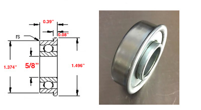 "Flanged Bearing 5/8"" Bore x 1 3/8"""