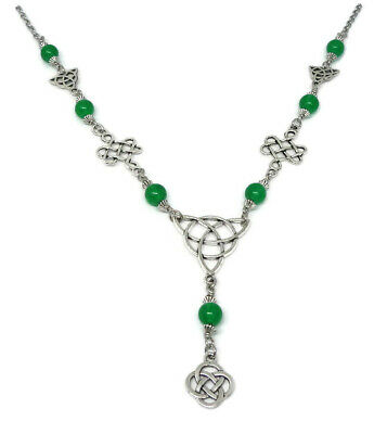 Celtic Necklace, Pagan Jewelry with triquetra and Celtic Knots