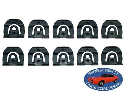 64-67 GM Front Windshield Rear Window Reveal Trim Moulding Molding Clips 10pcs H