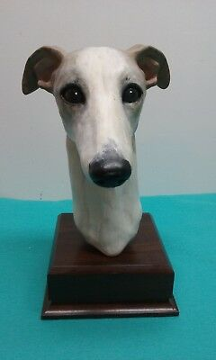 Greyhound/Whippet Sculpture OFAK Head Study by Terry Lerner 1999