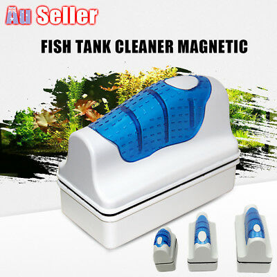 Magnetic Aquarium Glass Cleaner Fish Tank Aquatic Algae Cleaning Magnet Brush