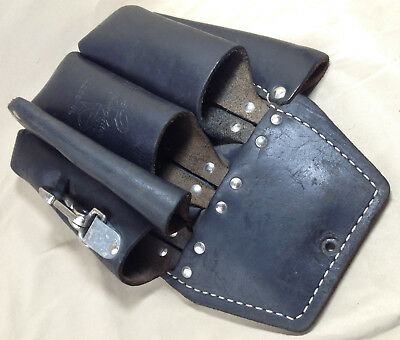 Buckingham Leather Tool Pouch Lineman 5 Pocket 42266-BL + Tape Lanyard
