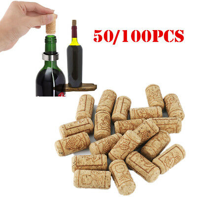 50/100pcs Wooden Stoppers Natural Corks Bottle Plug Caps Wine Sealing DIY Crafts