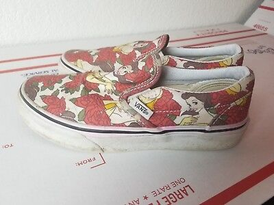 32c4180bd8ef16 Vans Disney Princess Belle Beauty   The Beast Slip On Shoes Youth size 1.5