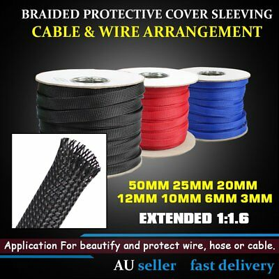 Cable Harness Polyamide Triple-Wire Braided Sleeving Wire Protective Integration