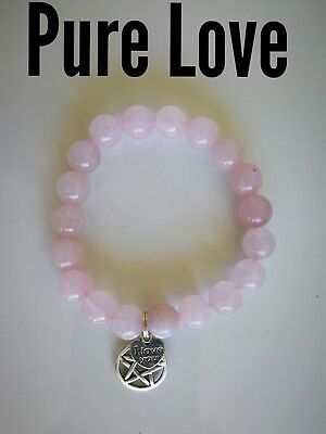 Code 423 Pure Love from all directions of time Rose Quartz Infused bracelet
