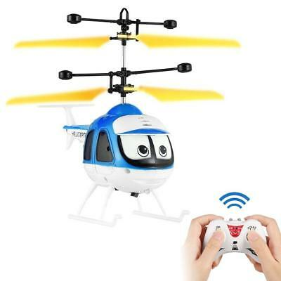 Mini RC Helicopter Drone Remote Control Aircraft Flashing Light Toy For Kid FT