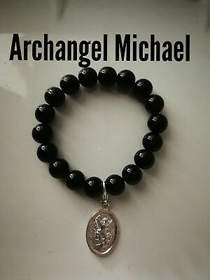 Code 447 Powerful Healing Agate Infused Bracelet Archangel Michael Guardian Gift