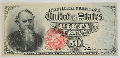 1869-1875 4th Issue 50 Cent Fractional Currency Note FR-1376 XF+/AU