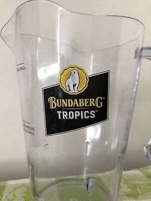 Bundaberg Rum Tropics Plastic Drink Jug Bar Collectable Used Once #Sunday