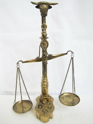 Antique Brass Scale w/ Bull Horns