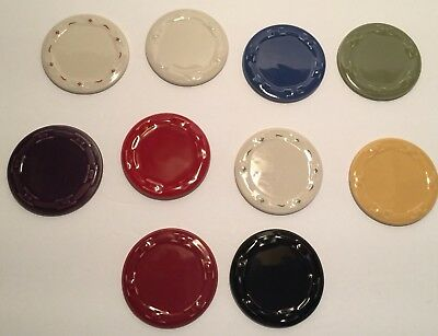 LONGABERGER POTTERY COLOR SELECTOR SAMPLES 10 pcs  ITEM # 88156