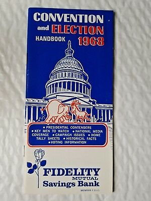 Convention and Election Handbook 1968 FIDELITY MUTUAL Savings Bank