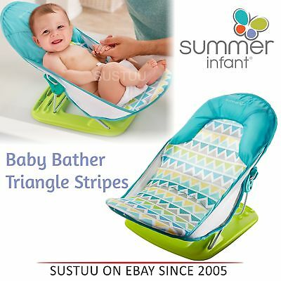 Summer Infant Deluxe Baby Bather│Folding│Newborn Head Support Bath Tub Sling