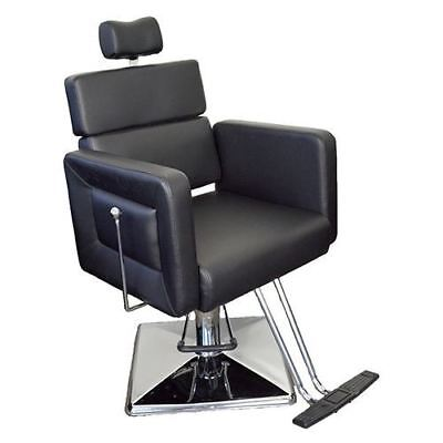 Salon Beauty Professional Black Threading Make Up Reclining Hairdressing Chair