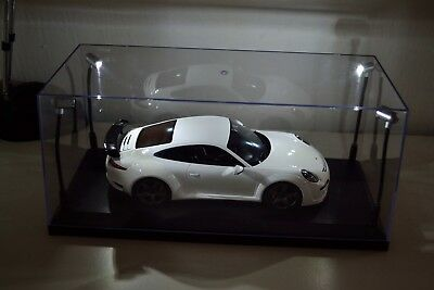 Display case with LED Lights and black base 1:18 scale model cars (See Desc.)