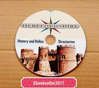 Topography ebooks, of Herefordshire genealogy & Kellys directories, on disc