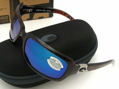 56d959f08f NEW COSTA DEL Mar ISABELA Tortoise   580 Blue Mirror Glass 580G -  169.95