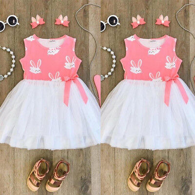 AU Baby Girls Princess Dress Toddler Party Wedding Pageant Tulle Tutu Dresses