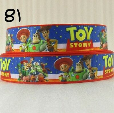 Grosgrain Ribbon Toy Story Blue Disney 25mm (1m, 2m or 5m)