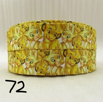 Grosgrain Ribbon The Lion King Disney 25mm (1m, 2m or 5m)